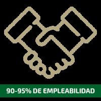 90-95% de empleabilidad