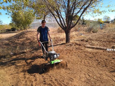 Cultivo del huerto en EFA Oretana