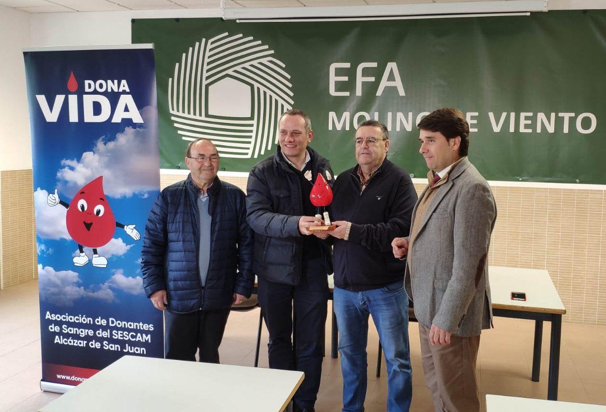 EFA Molino de Viento, donante de sangre
