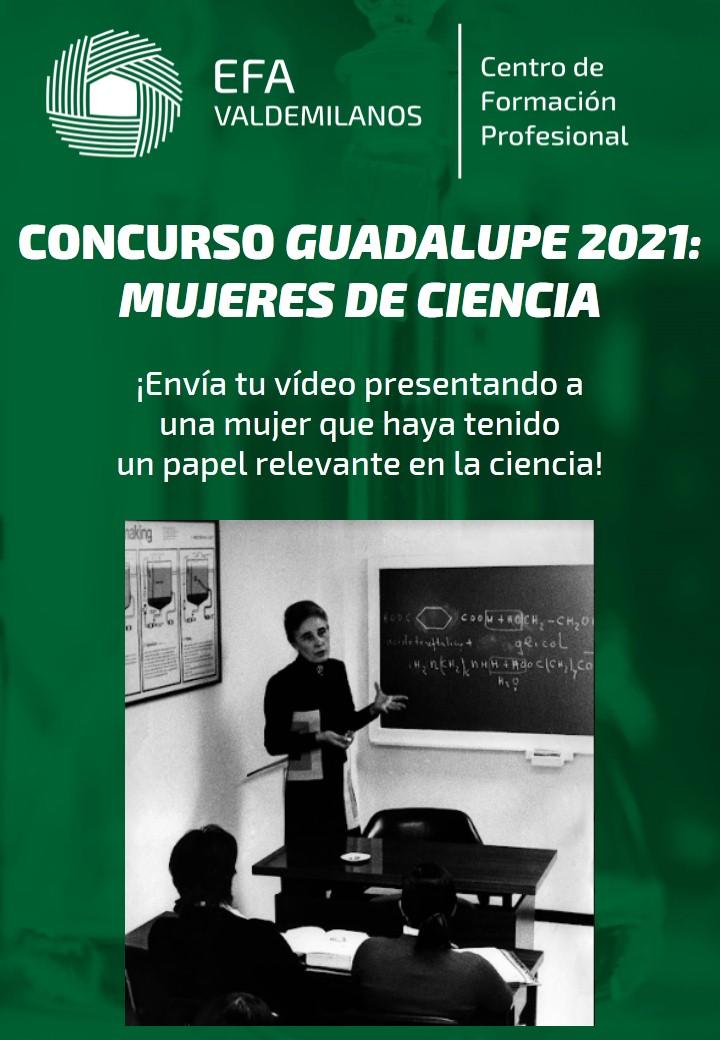 Concurso GUADALUPE 2021: MUJERES DE CIENCIA