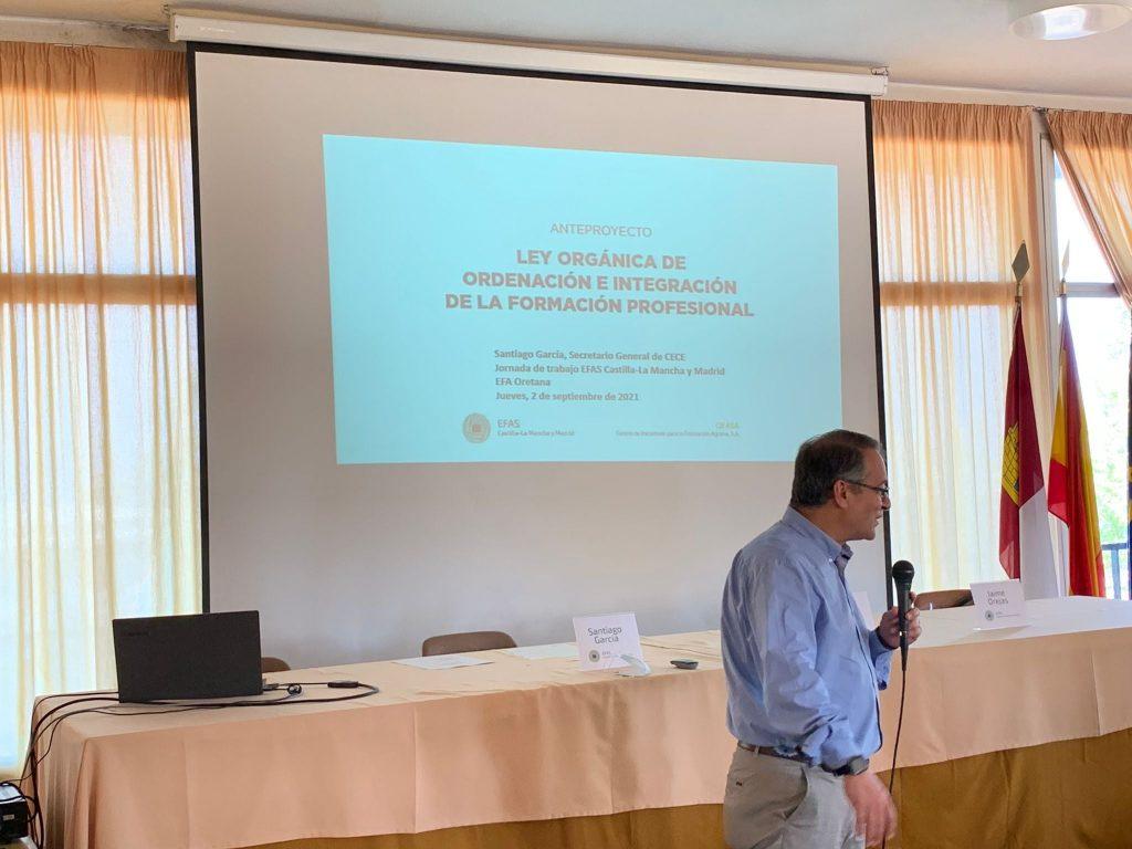 D. Santiago García, Secretario General de CECE, en la Jornada de trabajo de las EFAS, 2 de septiembre de 2021.